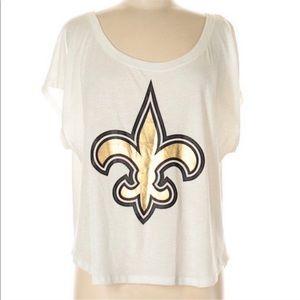 • Victoria's Secret Pink • New Orleans Saints Top